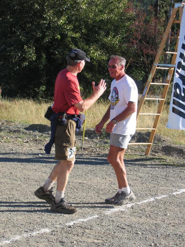 Ron Berman congratulates Ron
