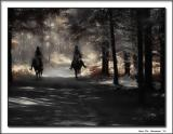 Riders in the forrest.