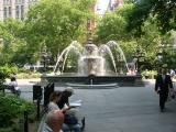 City Hall Park Fountain Looking East