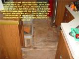 KITCHEN FLOOR BEFORE INSTALLING THE EBONY TILES