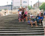 Where it started -- at 10 AM on August 10, on the tenth step of the Spanish Steps.