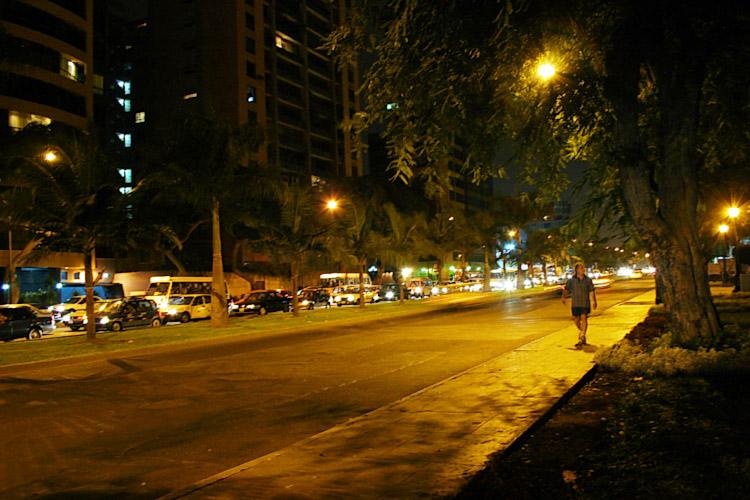 Javier Prado Avenue by night