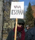 Tribute to Spain, a democracy.