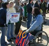 Pro-war youth meet anti-war activist
