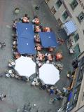 Outdoor cafe from Peterskirche tower