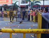 Temple crowd control