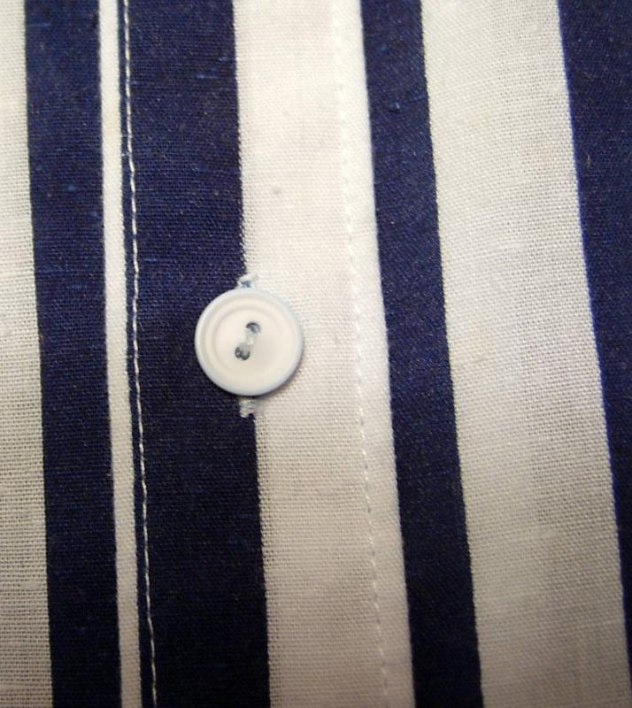 Navy & White Placket