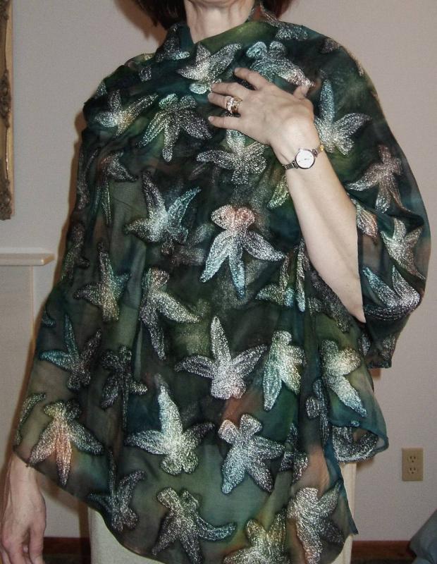 Embroidered Chiffon Wrap