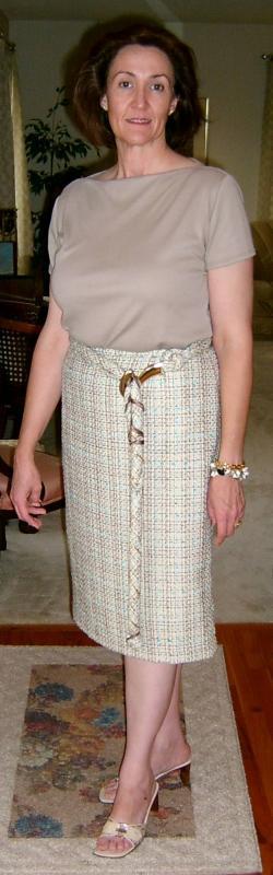 Tweed Belt & Skirt