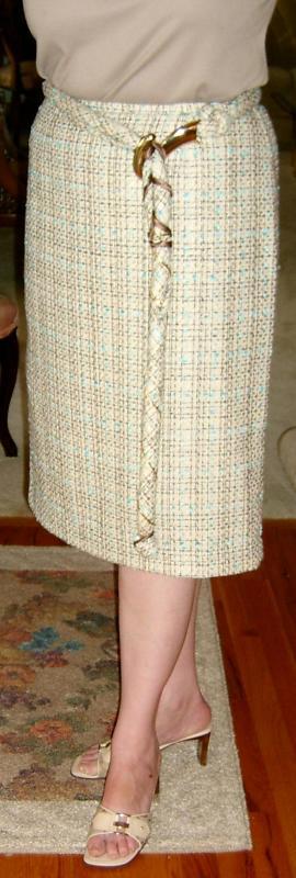 Tweed Belt & Skirt Closeup