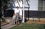 Betty and Steve at Bob and Gladys'; Inglewood, Calif., 1952