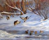 Plaisir d'hiver - Huile 18 x 24 - Collection privée