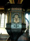 Jacobean pulpit at St. Mary, Croscombe