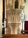 Stone pulpit, St Peter & St Paul, Shepton Mallet