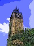 Big Ben Pop Art