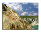 Coloured cliffs, Alum Bay, Isle of Wight (1730)