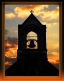 Bell tower sunset