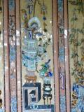 Wall decoration of porcelain & glass