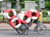 The streets of Hue - cyclo