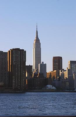 Empire State Building from the East River