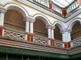 Gallery around the patio - Chettinad Palace