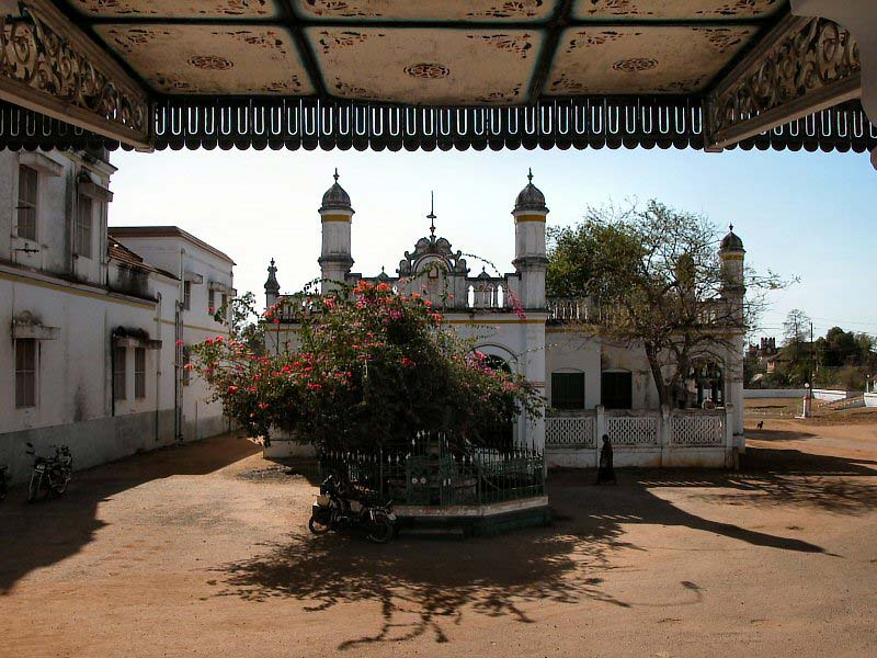 Outsite view from entrance - Chettinad Palace