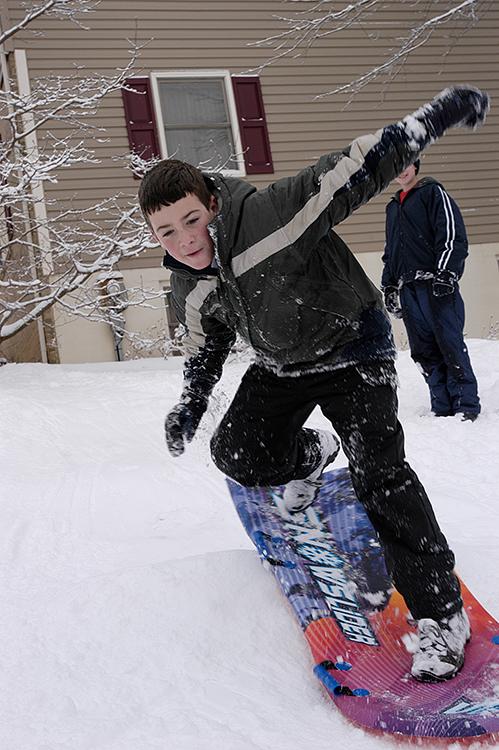 jesse carving snow