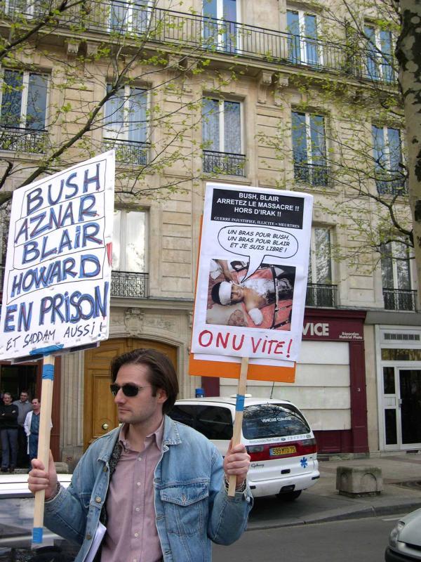 April 2003 - March against war in Iraq