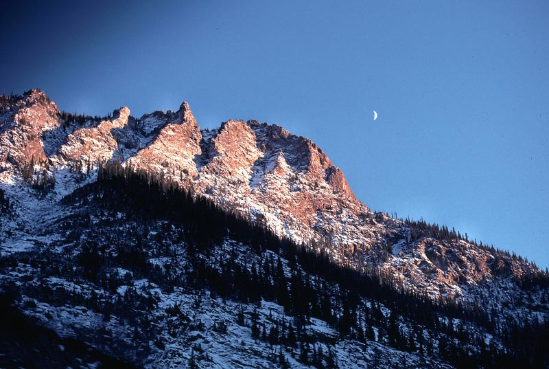 Moon over the Rockies