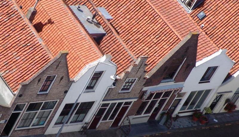 Row of old houses in Zierikzee