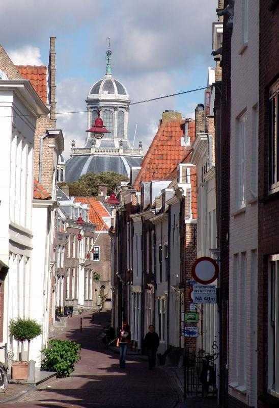 View on a street in Middelburg