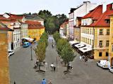 Along a street in Mala Strana