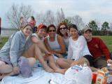 Monica, Tyler, Cat, Katie, Nicole, Me at the levee