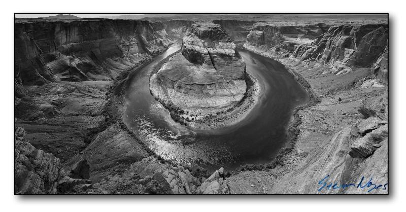 Horseshoe Bend : Week 13 Black and White