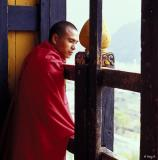 Monk at Paro Dzong