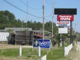 Irony. Tiny US motel proudly claims ownership, Walterboro, SC