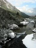 icy Tatra stream, Slovakia