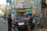 Preparing a car for a wedding in Sana'a
