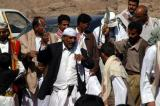 On Thursday and Friday mornings, Yemenis celebrate weddings at the Wadi Dhahr overlook