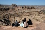 Family enjoying the view of Wadi Dhahr