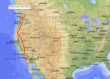 Pacific Crest Trail 2600 miles across US 1998