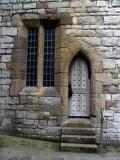 Caernarfon Castle -  sloped doorway
