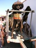 Metal Man on Cart