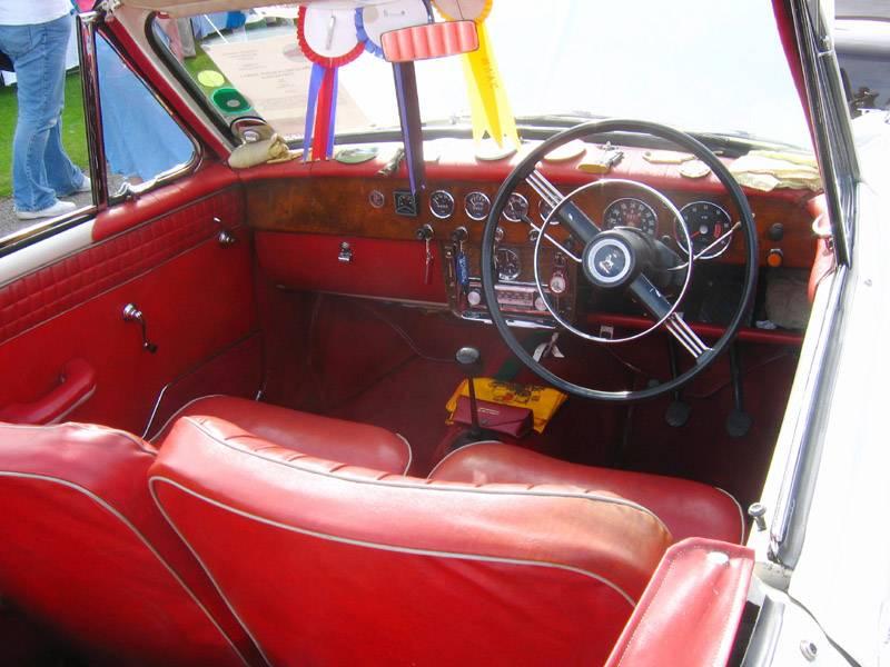 Red Leather Interior Sunbeam