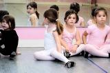 Julia waits for ballet -- and looks in the mirror