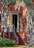 House with Spanish moss