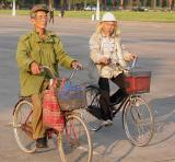 Cyclists in Hanoi