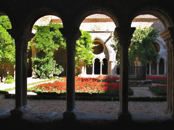Cloister of the Fontfroide Abbaye