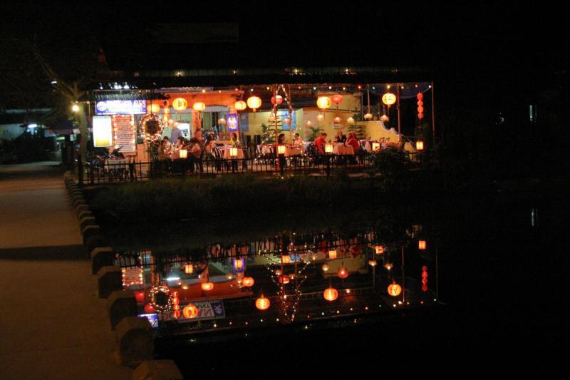 riverside at night