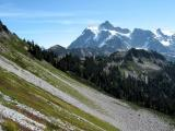 Shuksan above Chain Lakes Trail